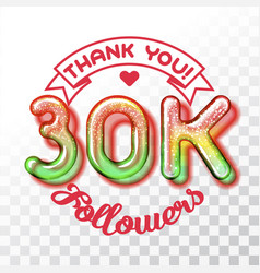 thank you 30k followers vector image