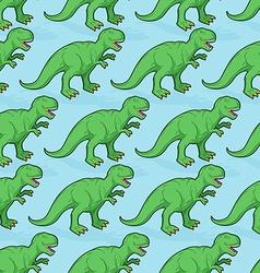 Tyrannosaurus seamless pattern Angry prehistoric vector image vector image