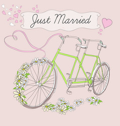 vintage drawing marriage poster vector image