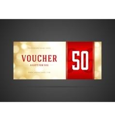 Voucher template abstract lght design vector