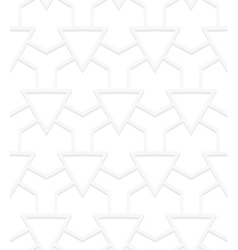 White art deco pattern vector