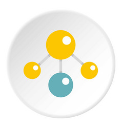 Yelllow and blue atomic structure icon circle vector