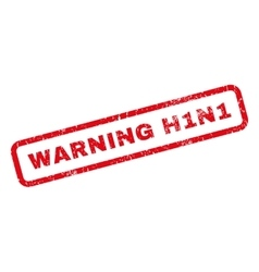 Warning h1n1 rubber stamp vector