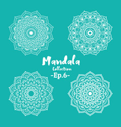 Set of mandala decorative and ornamental vector