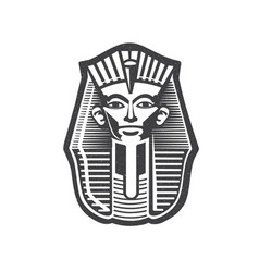 Pharaoh egyptian ancient symbol vector