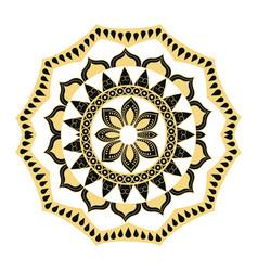 golden mandala border antique decoration ornament vector image