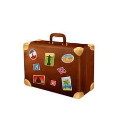 Suitcase traveler vector image