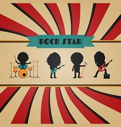 198retro rock band vector