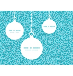 Abstract underwater plants christmas ornaments vector