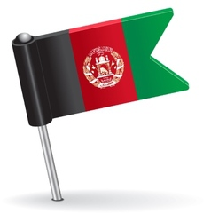 Afghanistan pin icon flag vector