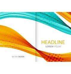 Abstract color lines background template brochure vector