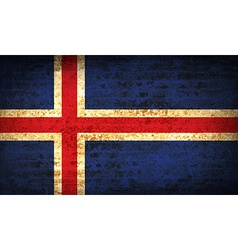 Flags iceland with dirty paper texture vector