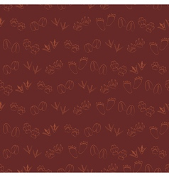 Seamless background with traces of animals vector
