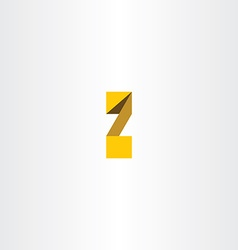 Yellow letter z font logo icon vector