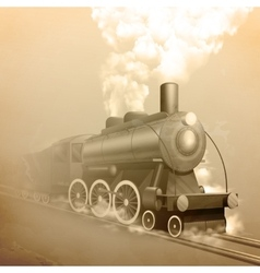 Old style locomotive vector