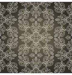 seamless vintage retro pattern vector image