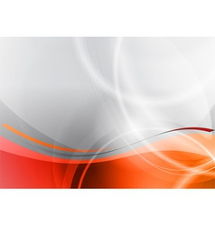 Orange and grey wave abstract background vector