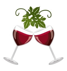 Cheers glasses of wine graphic vector