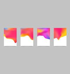 abstract bright liquid colorful poster design vector image vector image