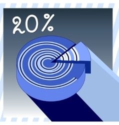 Abstract infographic as a blueberry roll vector image