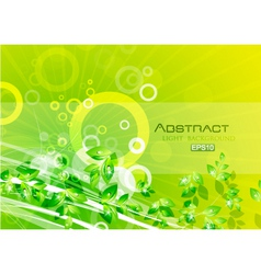 abstract nature vector image vector image