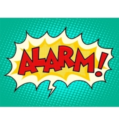 Alarm comic text bubble vector image vector image
