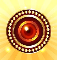 Artistic background of diwali diya vector image vector image