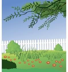 Beautiful Rural landscape vector image vector image