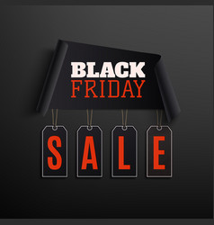 black friday sale abstract design on black vector image