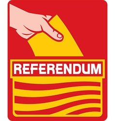 Catalonia referendum icon vector