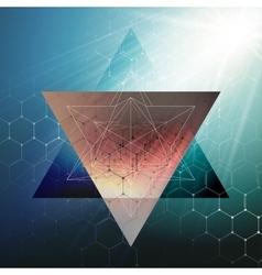 Chemistry 3D pattern hexagonal molecule structure vector image