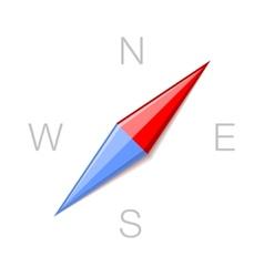 Compass Minimalistic Style Icon Symbol vector image vector image