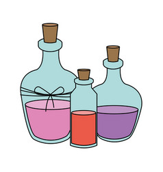 cosmetic glass bottle icon image vector image vector image