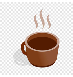 Cup of hot drink isometric icon vector