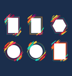 empty frames collection on vector image