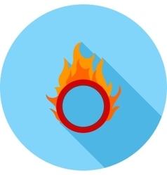 Fire hoop vector