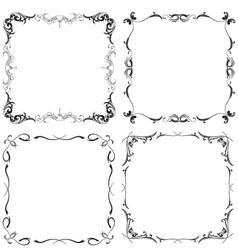 frame patterns vector image vector image
