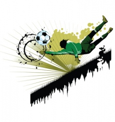 goalkeeping vector image vector image