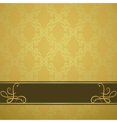 golden background with a brown board vector image