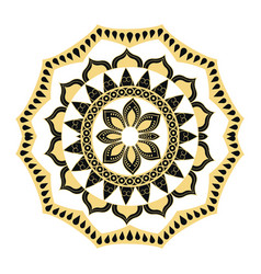 Golden mandala border antique decoration ornament vector