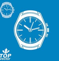 Graphic pocket watch invert version include vector