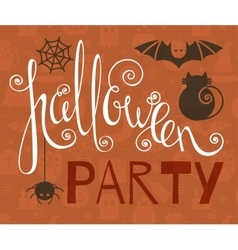 Halloween party vintage poster vector