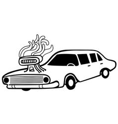 Hot muscle car vector