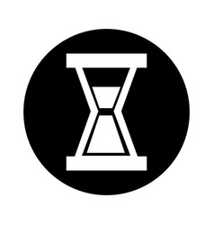 Hourglass clock isolated icon vector