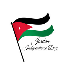 jordan independence day jordan flag celebration vector image