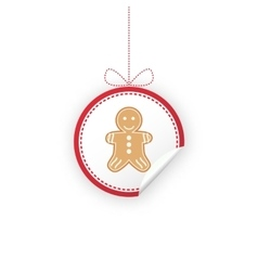 Label for Christmas gifts sales product vector image