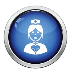 Nurse costume icon vector image vector image