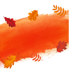 orange blot and autumn leaves vector image vector image