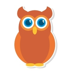 Owl bird isolated icon vector