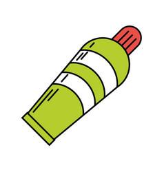 plastic tube cream icon vector image